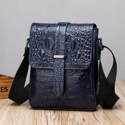 Wzór krokodyla torba na ramię męska walizka biznesowa męska pionowa przenośna torba kurierska wielofunkcyjna torba na telefon komórkowy