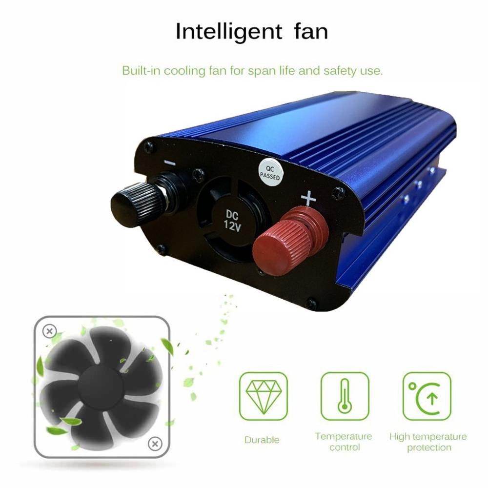 4000W Car Power Inverter Charger DC 12V/24V To AC 220V Sine Wave Converter Interfaces Voltage Transformer Adapter