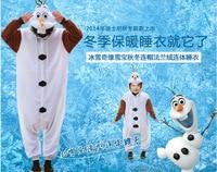 Anime Olaf snowman Costume Pajamas Cosplay White jumpsuit Adult child Onesie Pyjamas Party Dress