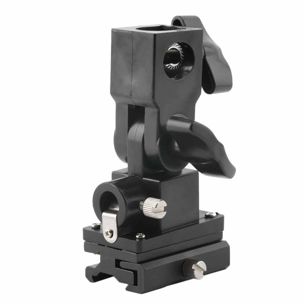 FU-SOB Универсальный B Тип многофункциональный держатель светодиодный вспышка светильник зонт держатель Поворотный Светильник Подставка Кронштейн для Камера Пластик ACEHE