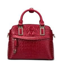 2019 high quality crocodile pattern ladies bag dumplings leather handbags fashion shoulder shell