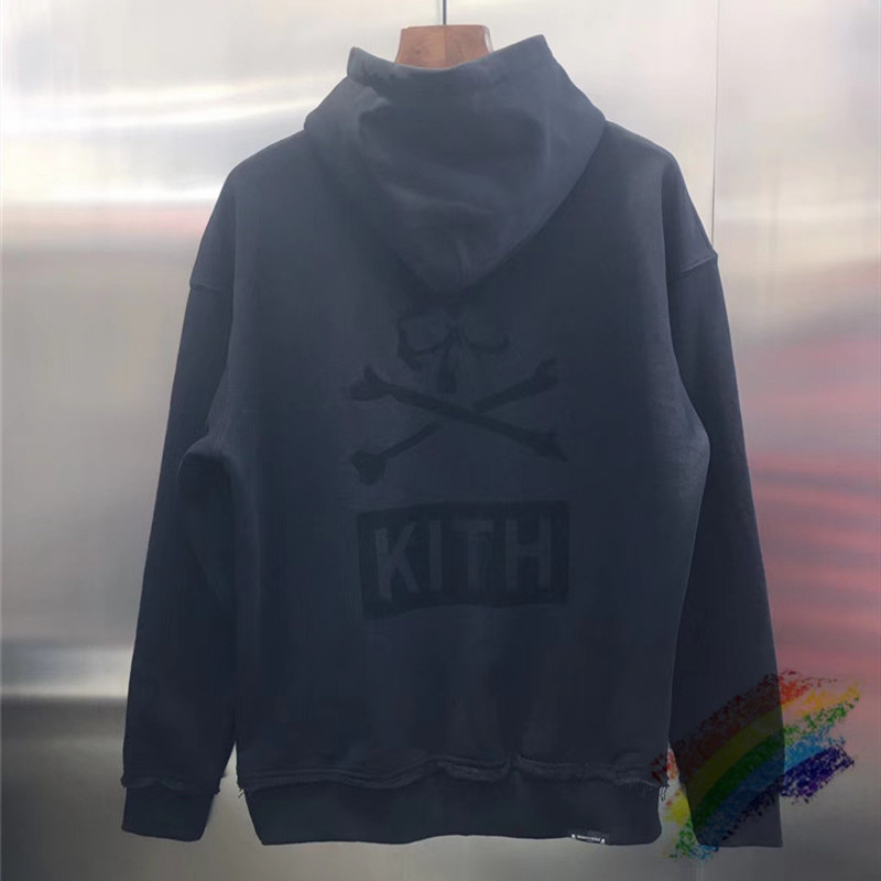 KITH Mastermind Japan Hoodie Hooded Men Women 1:1 High Quality Black KITH Flocked Fashion Mastermind Japan Hoodies Mens Pullover