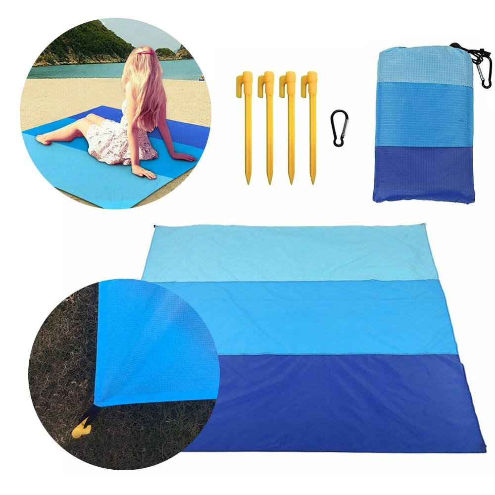 Magic Beach Mat Outdoor Travel Magic Sand Mat Beach Towel Picnic Camping Waterproof Mattress Blanket Foldable Sandless Beach Mat
