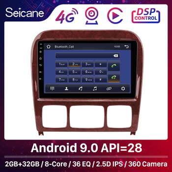 Seicane Car Multimedia GPS Android 9.0 Autoradio For Mercedes Benz S Class W220 S280 S320 S350 S400 S430 S500 S600 AMG 1998-2005 image