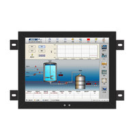 15 17 Inch Display LCD Screen Monitor of Tablet VGA DVI USB Resistance Touch Screen Embedded Installation Wall Mounting 12 10