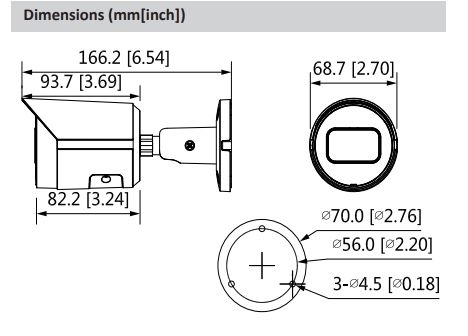 Dahua Poe IP Camera IPC HFW2230S S S2 2MP H.265 IR LED Low Illuminance Bullet Network Camera Replace IPC HFW1230S Security cam - 2