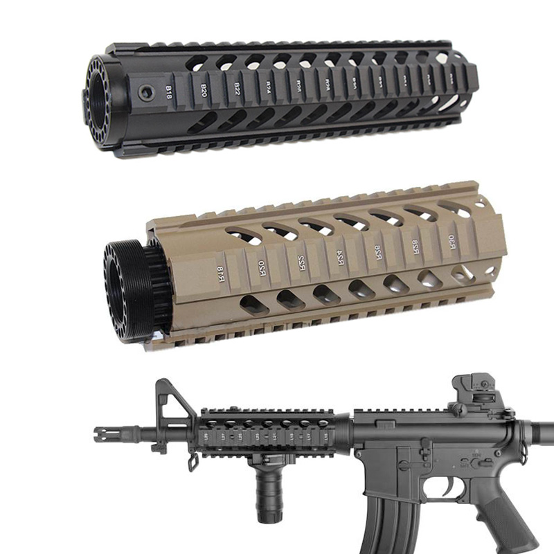 Tactical 4'' 7'' 10'' 12'' 15'' Free Float Handguard For AR15 M4 M16 Airsoft Rifle Carbine Handguard RIS Drop-in Quad Rail Mount