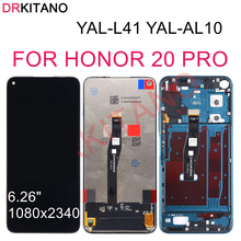 DRKITANO عرض لهواوي الشرف 20 برو شاشة LCD تعمل باللمس مع الإطار الشرف 20 برو شاشة LCD استبدال YAL AL10 YAL L41