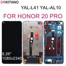 DRKITANO Màn Hình Cho Huawei Honor 20 Pro Màn Hình LCD Hiển Thị Màn Hình Cảm Ứng Với Khung Danh Dự 20 Pro Màn Hình LCD Thay Thế YAL AL10 YAL L41