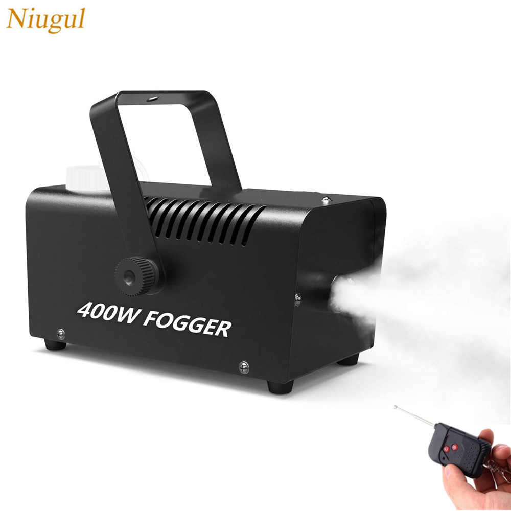 Fogger Ejector 400W Smoke Machine Wireless Remote Control For Party, Christmas, Halloween And Wedding Disinfection Fog Machine