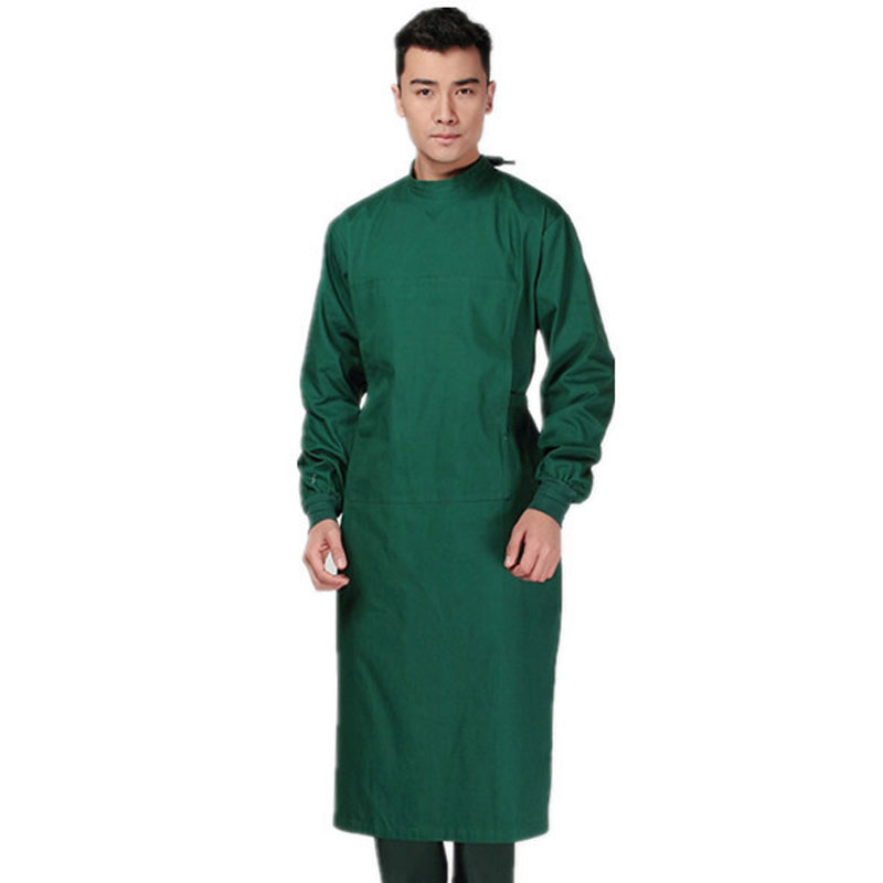 2020 Hospital Long Sleeve Back Tied Doctor Coverall Cotton Professional Surgical Gown Health Care Workers Clothing