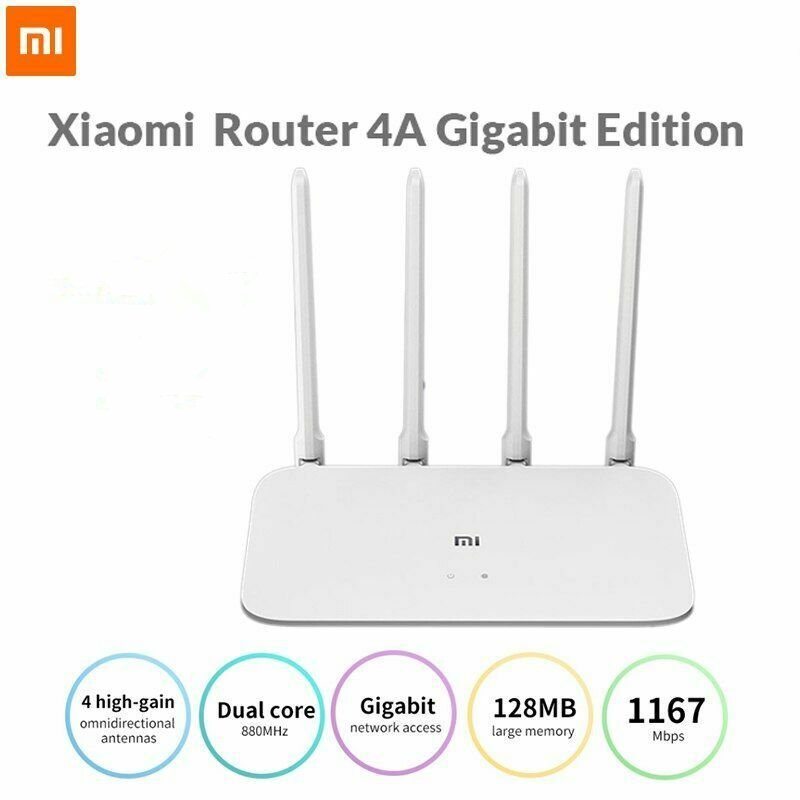 Original Xiaomi AC1200 Mi Router 4A Gigabit Edition 1000M 2.4GHz 5GHz 1167Mbps WiFi Repeater 128MB 4 Antennas Network Extender