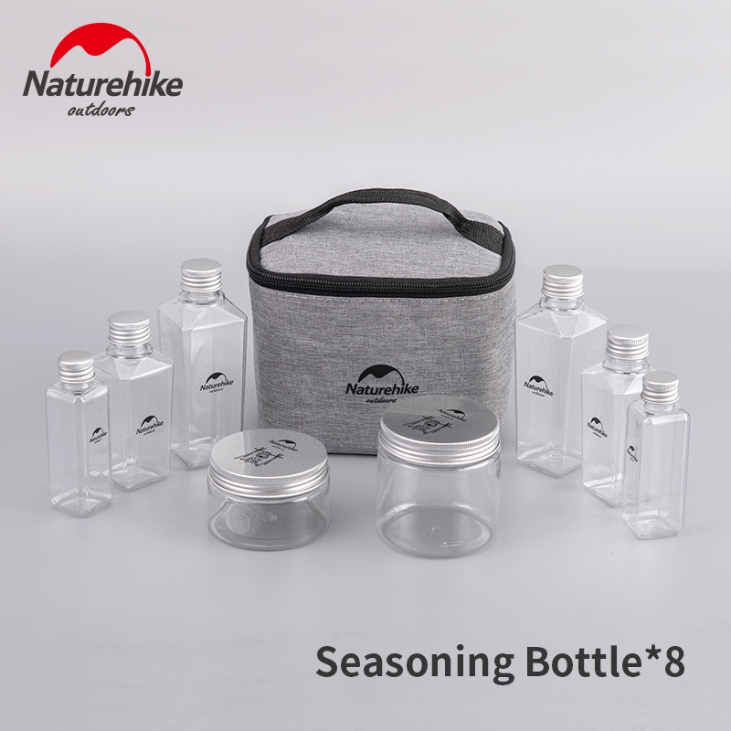 Naturehike Outdoor 6/8 Bottle Suit Camping Seasoning Bottle Suit Portable Picnic Storage Bag Waterproof Seasoning Bottle Camping