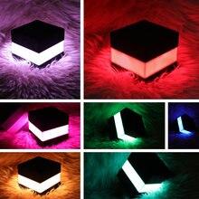 Cube ночной Светильник usb Перезаряжаемые Красочный светодиодный