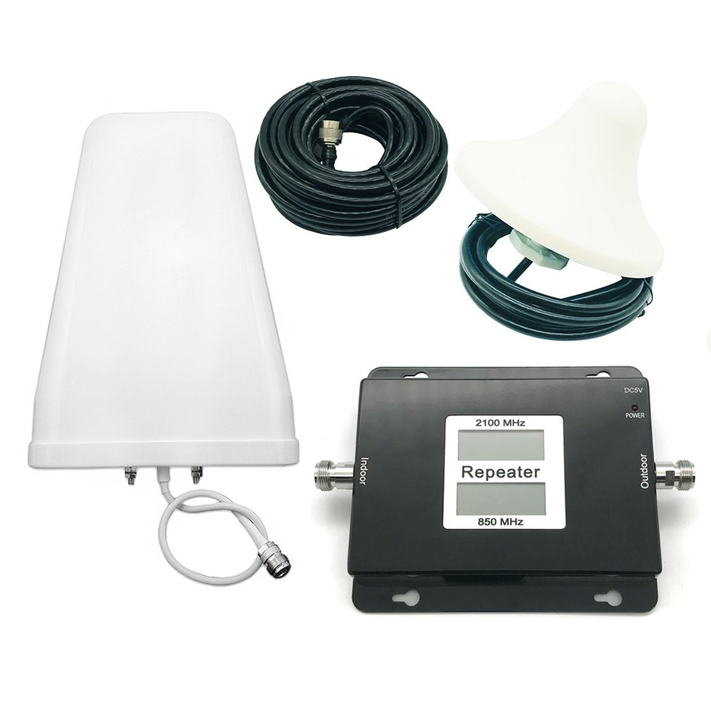 Professional Portable Size 3G Dual Band GSM/WCDMA 850/2100mhz Cell Phone Signal Booster 3G Repeater Amplifier