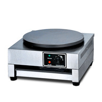 Electro thermal Pancake Crepes Machine Griddle Cake Frying Furnace Single Head Temperature Control Easy To Clean Commercial Safe