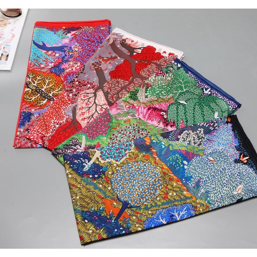 100% Twill Silk Scarf Shawl Women Fashion Wraps Foulard 35