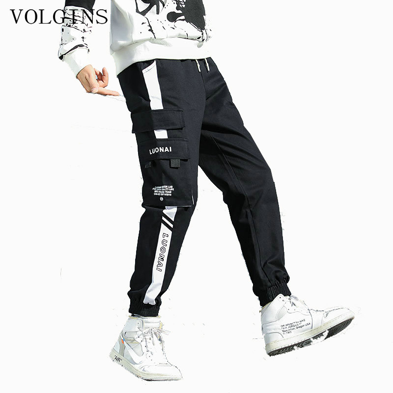 Streetwear Hip Hop Cargo Pants Mens Spring Summer Military Style Joggers Pants Men Baggy Pocket Casual Trousers Harem Pants