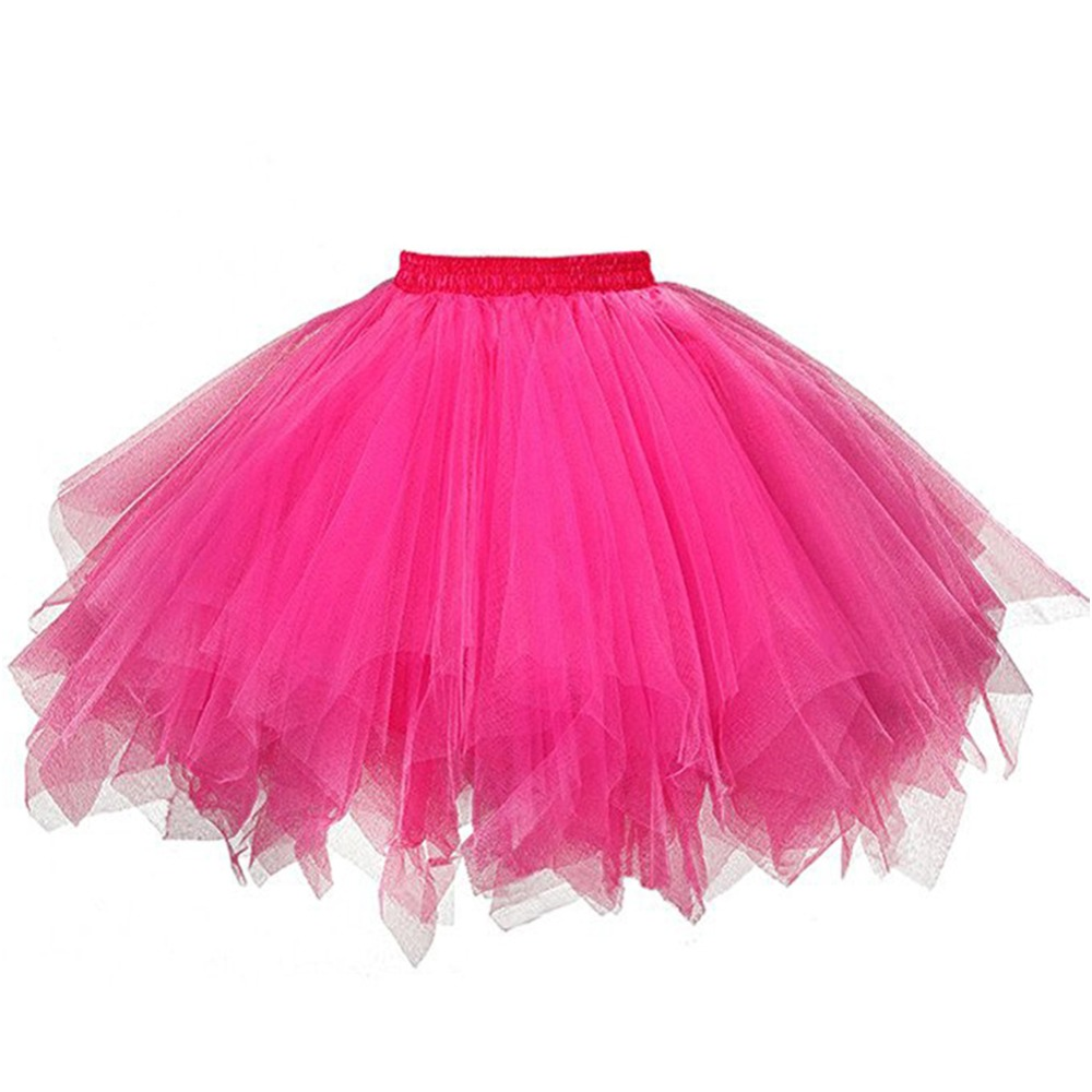 Tulle Wedding Accessories Petticoat Short Slip Dress Red and White Tutu Puffy Skirt Rockabilly Crinoline for Girl Petticoat