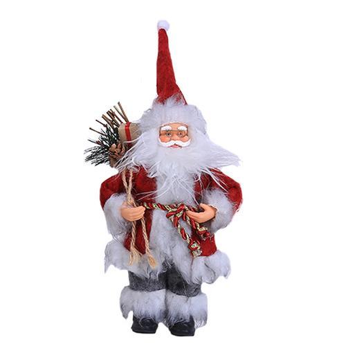 Хит, 30 стилей, рождественские украшения для дома, Рождественские куклы, елочные украшения, инновационная декорация с лосем, Сантой, снеговиком - Цвет: F 30x12cm