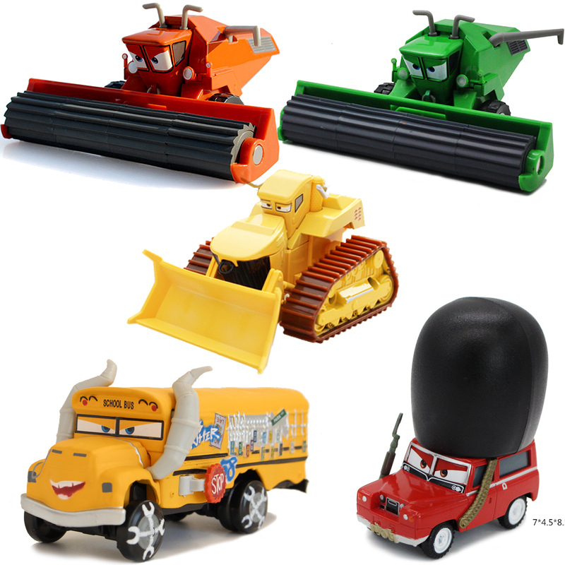 Disney Pixar Cars 2 3 Diecasts Toy Vehicles Frank Combine Harvester Bullfighter Bulldozer Metal Car Toy Kids Birthday Gift