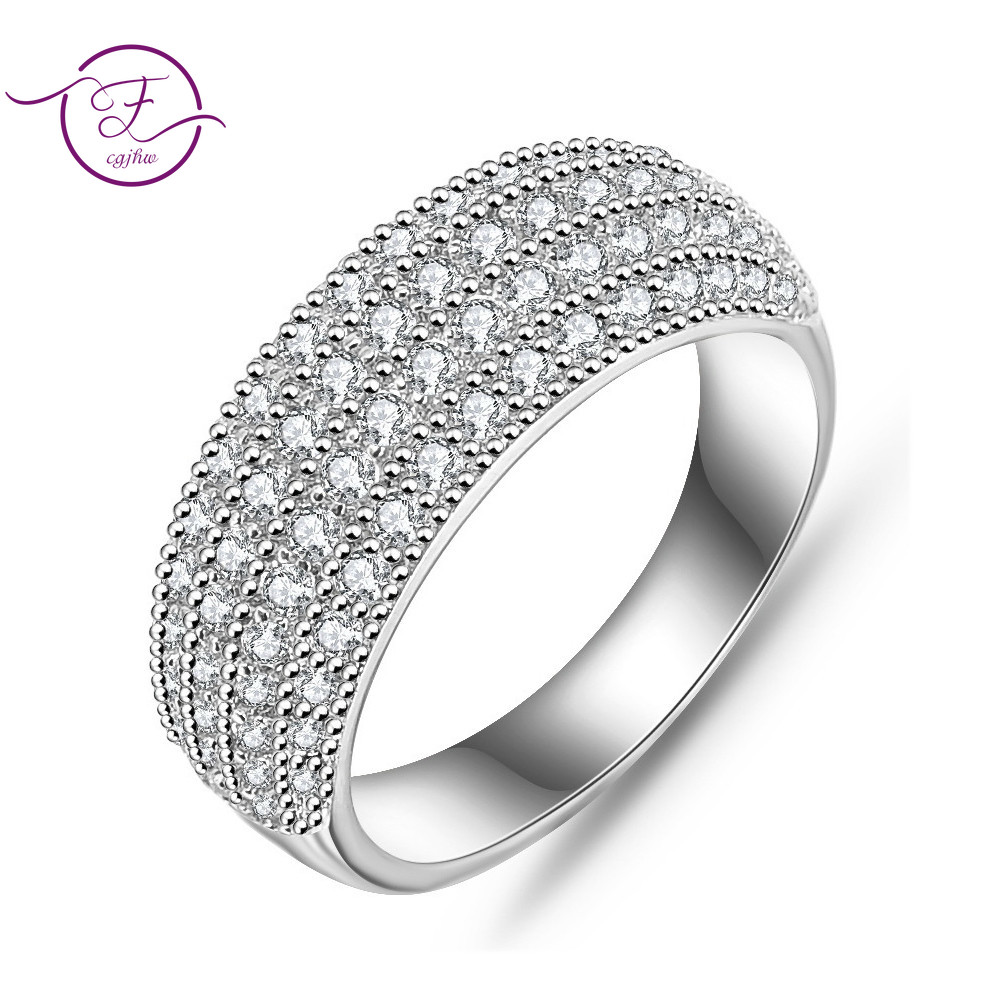 Authentic 100% 925 Silver Women's Gemstone Rings Fine Jewelry Ring Party Anniversary Gifts Wedding Jewelry