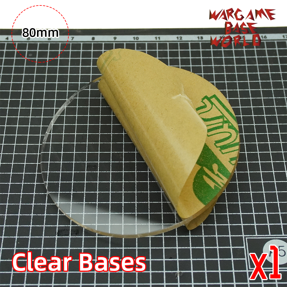 80mm Round Clear Bases TRANSPARENT / CLEAR BASES For Miniatures