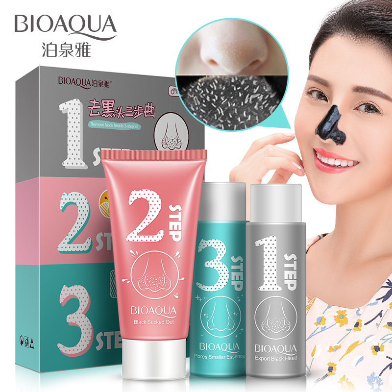Bioaqua 3 Step Suit Nose Blackhead Blemish Removers Peel Off Black Head Acne Mask Deep Clean Face Skin Care Tool Facial Masks