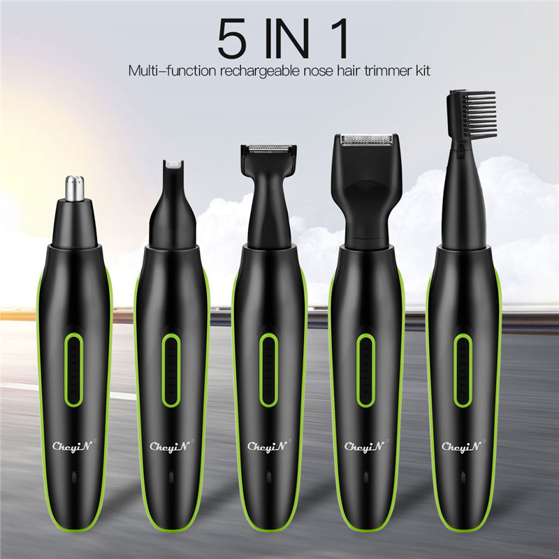 5 In1Electric Nose Ear Hair Trimmer Men Rechargeable Beard Trimer  Face Eyebrow Hair Removal Sideburns Styling Hair Trimmer  49