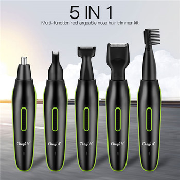 5 in1Electric Nose Ear Hair Trimmer Men Rechargeable Beard trimer  Face Eyebrow hair removal Sideburns Styling Hair Trimmer  53 men s shaver ear nose trimmer r sideburns battery powered beard face eyebrow hair trimmer removal for men women