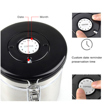Metal Coffee Storage Coffee Container Storage Canister Bottle Stainless Steel  Coffee Storage Jar Nut Sugar Tea Container 2