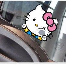Aliauto забавная Автомобильная наклейка кошка хит стекло милые Авто Наклейки Аксессуары для Chevrolet Cruze Ford Focus, Volkswagen Skoda Kia