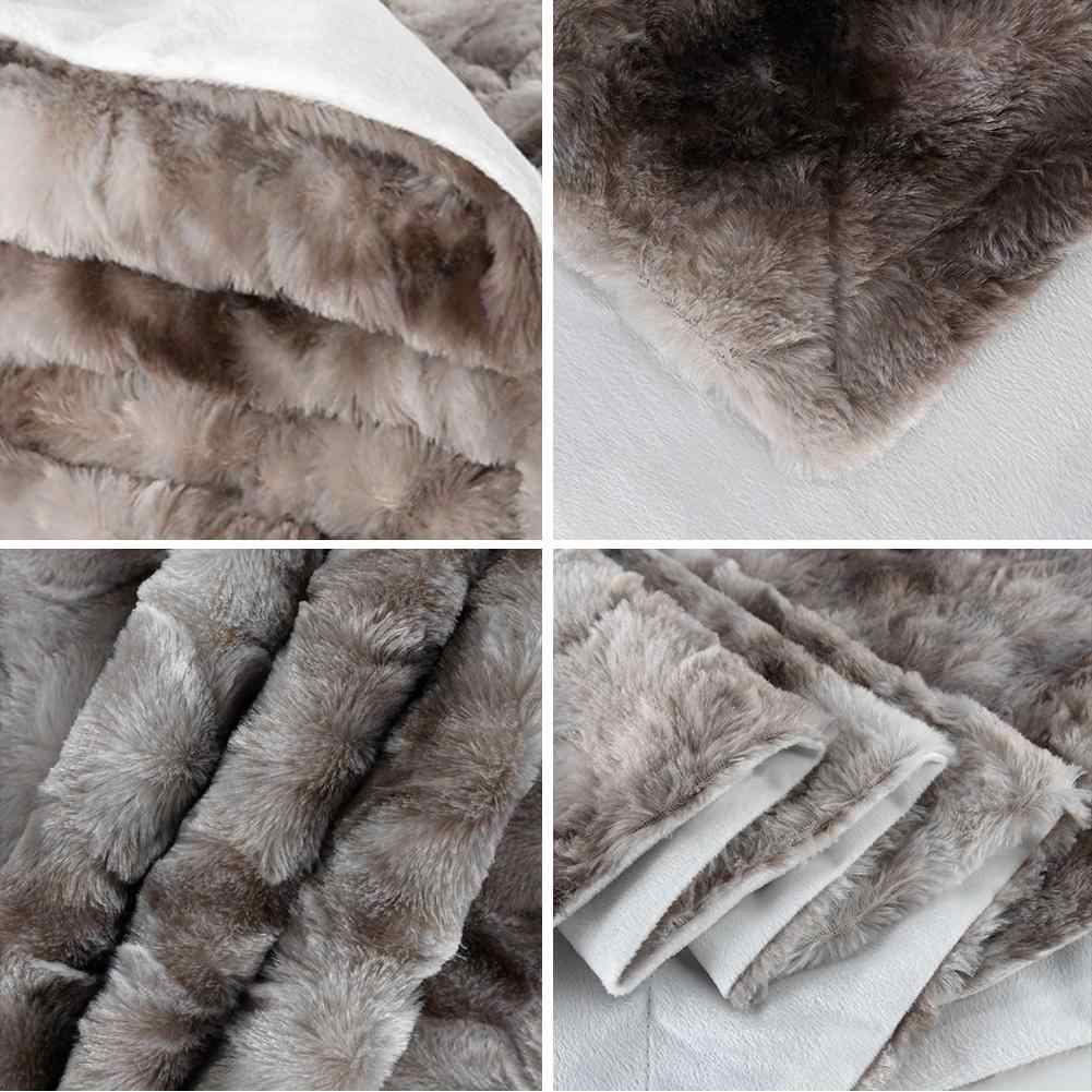 Otoño Invierno manta de doble capa Super transpirable suave sofá de la siesta franela caliente manta de tiro al por mayor