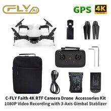 RC Drone 4K GPS C FLY İnanç akıllı Drone Quadcopter profesyonel kamera ile HD Video 1 3KM FPV 3 Axis Gimbal 35 dakika uçuş