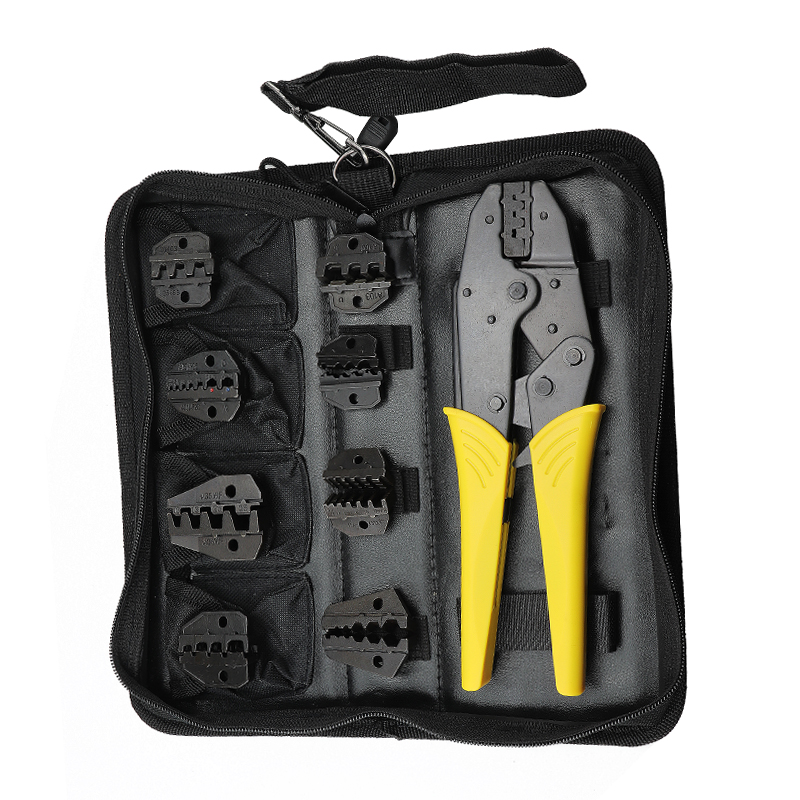 Crimping Tools Pliers Set For XH2.54 Pulg/tubular/tube/insulated Terminals 8 Jaw Kit Electrical Pressing Electrical Clamp Tools