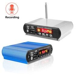 Leitor de mp3 sem fio da placa do decodificador de bluetooth mp3 com função de gravação dc 5 v 12 v 24 v diy escudo suporte usb/sd/fm módulo de áudio