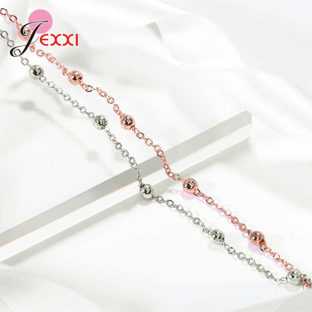 Duża promocja oryginalna 925 Sterling Silver bransoletka dla kobiet wysokiej jakości koreański styl podwójna warstwa koraliki kobiety bransoletka