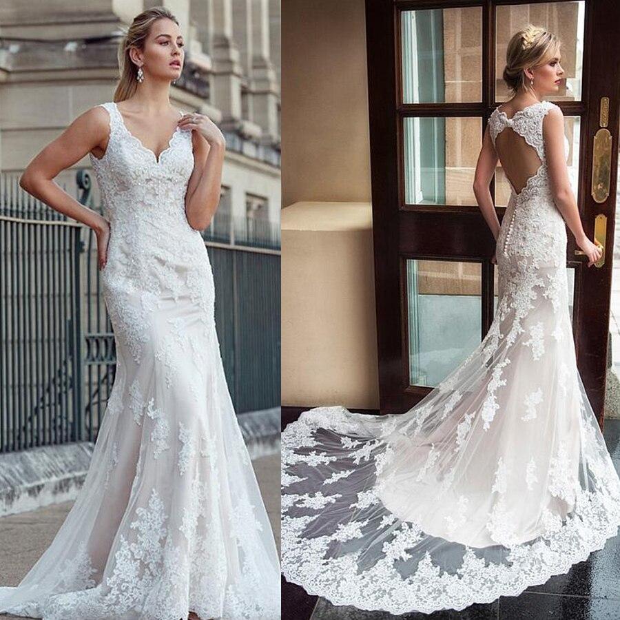 С юбкой из тюля с v-образным вырезом декольте Русалка свадебное платье с кружевной аппликацией; платье для девочки цвета шампанского