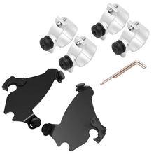 Gauntlet Fairing Black Trigger Lock Mount Kit For Harley Sportster 883 1200 88+