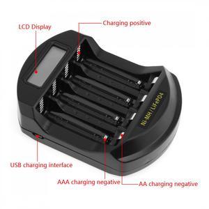 Image 5 - Soshine ЖК дисплей LifePO4 Ni MH 4 слота интеллектуальное зарядное устройство для батарей 14500 /14400 / AA / AAA
