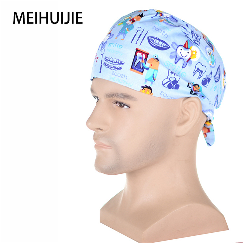 Men's Surgical Caps Tooth Fairy Dentist Medical Cap Hospital Man And Woman Work Hat Veterinary Cap Clinic Pharmacy Physician Hat