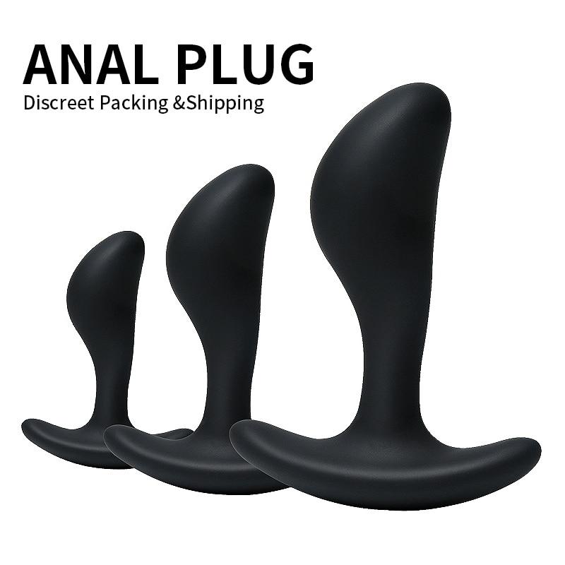 3PCS Butt Anal Plug G-Spot Stimulate Massage Vagina Sex Erotic Products silicone Dildo Butt Masturbate toys For Women Gay Men(China)