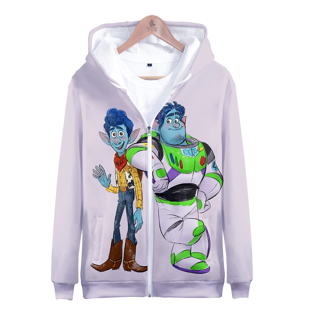 2020 Find The Magic:Pixar Onward Hoodie 3D Men Pocket Zipper Hoodies Sweatshirts Cartoon Anime Movie Streetwear Harajuku