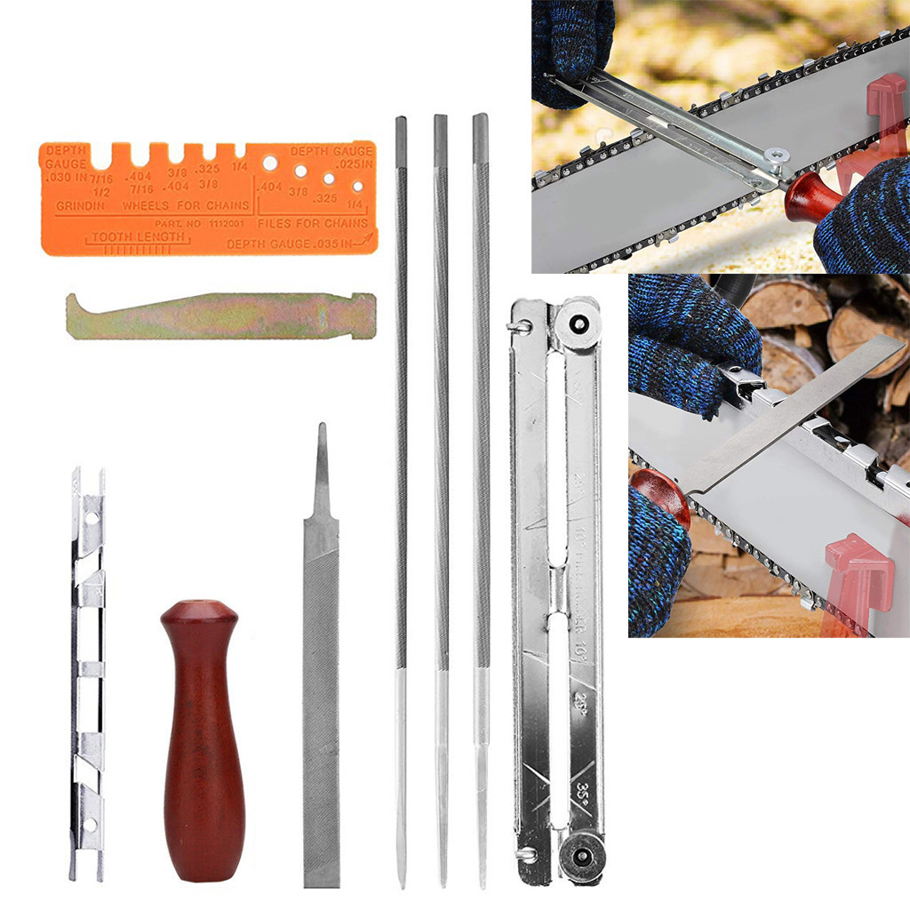 #20 1 Set Chainsaw Chain Saw Sharpening Kit Chainsaw File Tool Set Guide Bar File Home Improvement Hand Tools Dropshipping