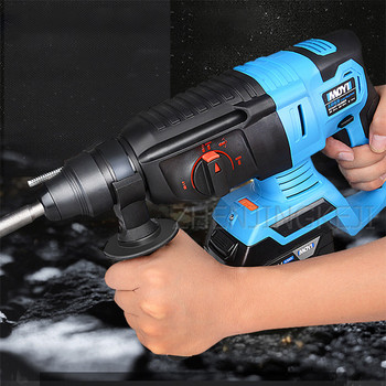 Industrial Grade Electric Hammer Brushless Rechargeable Impact Drill Multifunction Lithium Battery Radio Hammer Electric Tools 5000 10000mah long duration hammer cordless drill rechargeable lithium battery multifunctional electric hammer impact drill