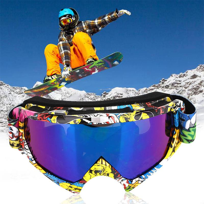 Ski Goggles 2018 Durable 3 Colors Antifogging Cycling Game Snowboard Goggles Anti Fog Snow Mountain Windproof Wind Mirror