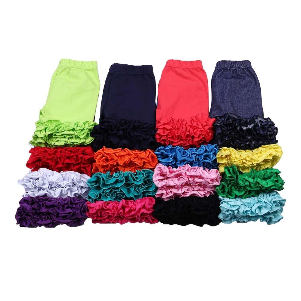 MUDBALA Toddler Kids Clothing Girls Bottoms Cotton Short Blank Icing Shorts For Baby Girl Ruffle Shorts