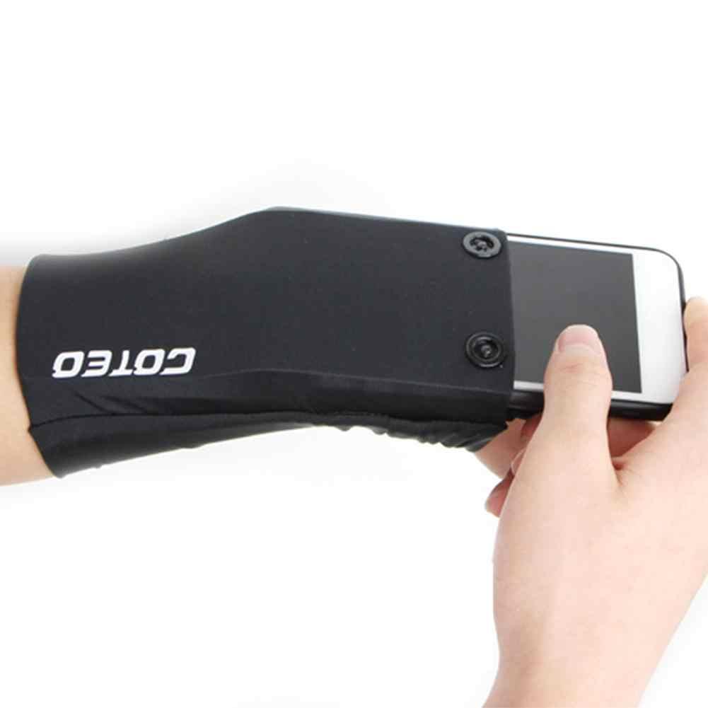 Спортивная нарукавная Сумка для бега велосипедный браслет для ракеток для бадминтона и тенниса Sweatband поддержка запястья Карманный Бумажник, крепящийся на запястье сумка