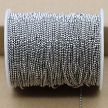 1 Pack/lot 1.5 2.0 2.4 3.2 4 6 8mm Stainless Steel Bead Ball Bead Chains & Connector Clasps For DIY Necklace Jewelry Making