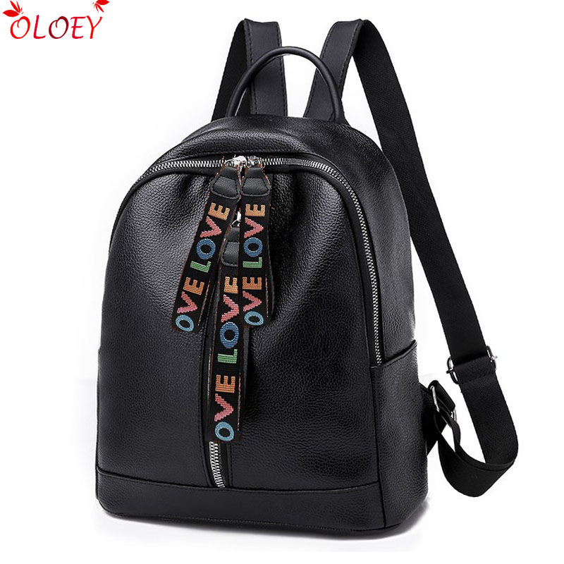 Double Zipper Backpack Women Pu Leather School Bags For Teenage Girls Travel Bags Designer Female Backpack Soft Laptop Backpack